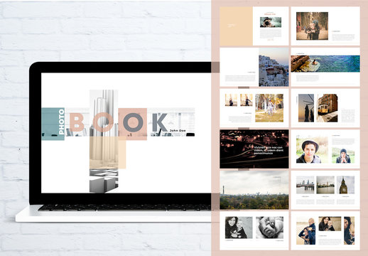 Beige Photo Book Digital Photographer Presentation Layout