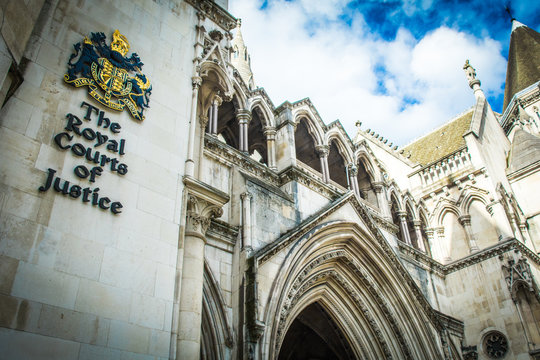 London: The Royal Courts of Justice, an imposing gothic law court building housing the UK's High Court and Court of Appeal