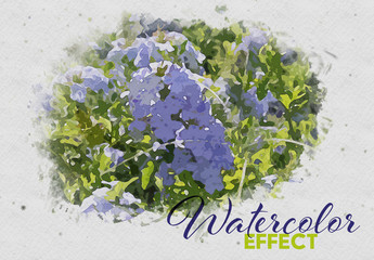 Watercolor Paint Effect Mockup