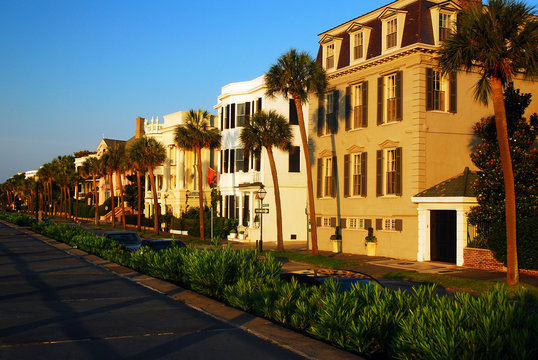 Stately Antebellum Homes Along East Battery in Charleston