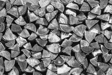 Photo sur Aluminium Texture de bois de chauffage logs texture