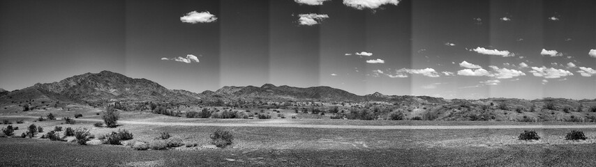 Foto auf Gartenposter Rosa dunkel Panoramic Shot Of Countryside Landscape