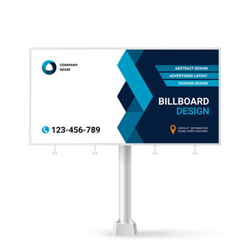 Advertising banner design, Billboard template for outdoor advertising
