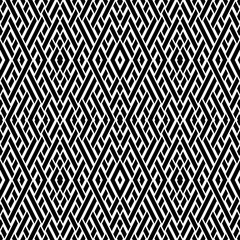 Autocollant pour porte Style Boho Seamless pattern with oblique black segments