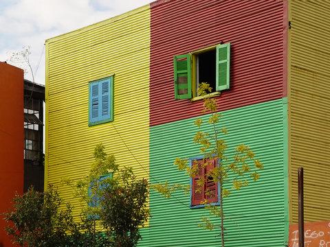 La Boca windows on colorful buildings