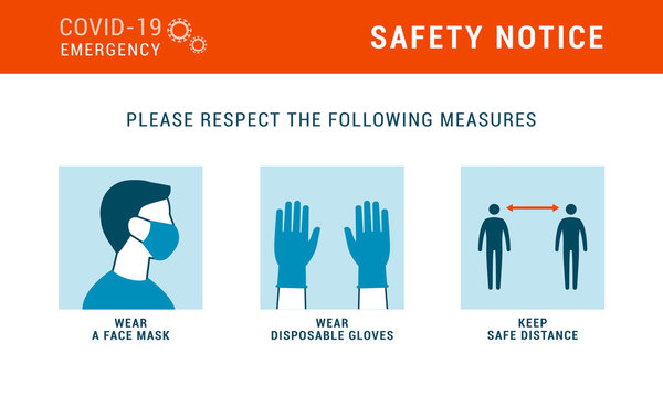Coronavirus covid-19 safety measures