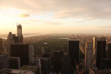 Fototapeta High Angle Shot Of Cityscape Against The Sky