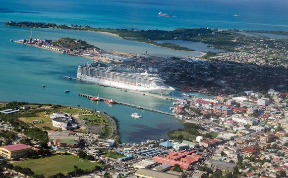 St John's Cruise Port, Antigua - Aerial View