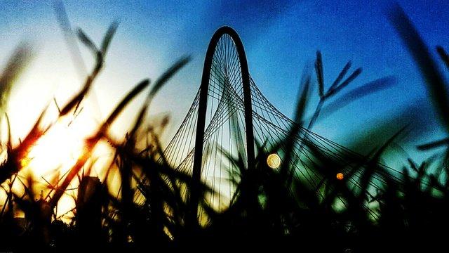 Silhouette Margaret Hunt Hill Bridge Against Sky During Sunrise
