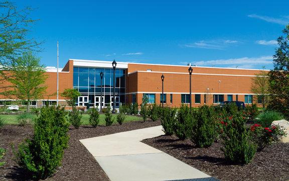 Typical public school brick building