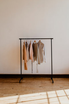 Cloth hanging on the rack