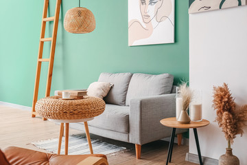 Wall Mural - Interior of beautiful modern living room