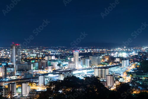 Wall mural 夜景 熊本市