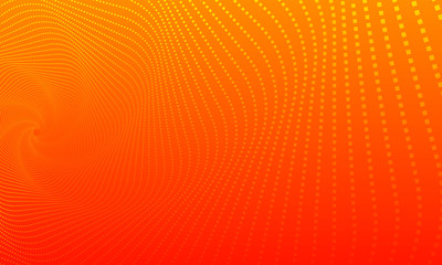 orange background with wave pattern, beautiful symmetrical wave background. Wall mural