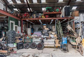 Garage workshop full of machinery and equipment