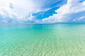 Autocollant pour porte Vert corail プーケット島にある「マイトンアイランド」真っ白なビーチにエメラルドグリーンに輝く海、とても美しい島です。