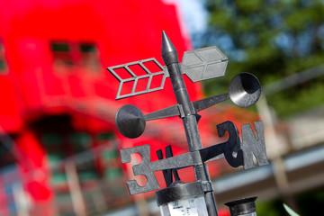 Poster de jardin Rouge Ambiance et paysage quartier nord de Paris, Parc de la Vilette