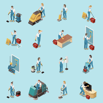 Professional Cleaning Isometric Set