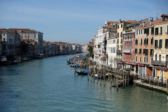 Clear water is seen in Venice's Grand Canal due to less tourists, motorboats and pollution, as the spread of the coronavirus disease (COVID-19) continues, ahead of Earth Day