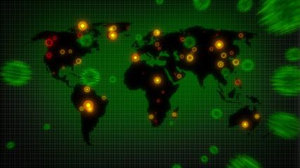 Global Pandemic - Coronavirus attacking the world