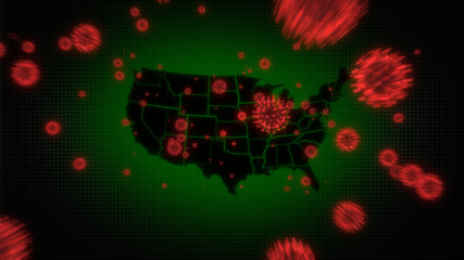 Global Pandemic - Coronavirus attacking the United States of America