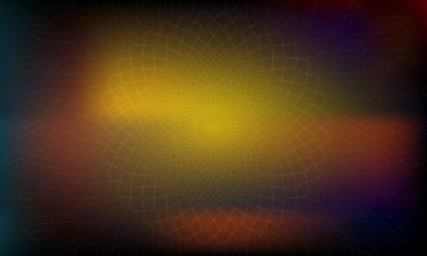 Abstract multicolored background, patterned texture,and yellow spotlight.