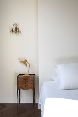 Modern French apartment bedside table