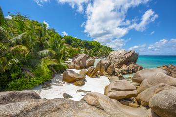 Anse Patates beach in Seychelles