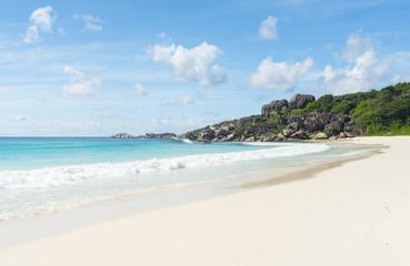 Anse Petite beach in Seychelles