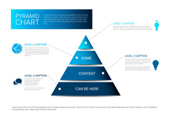 Vector Infographic Pyramid chart diagram template