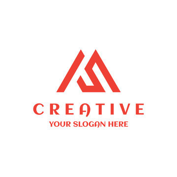 MS logo creative design template