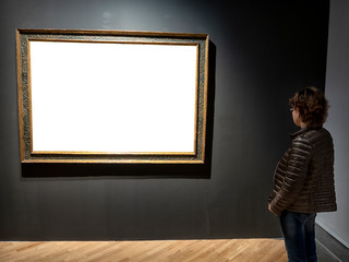 woman in an art gallery. Other images.