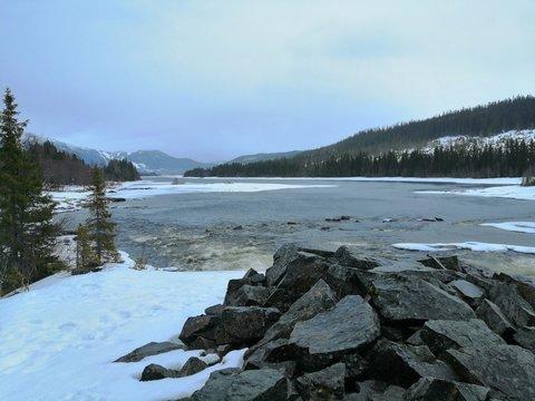 River in Åre, Sweden.