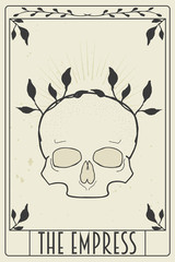 Garden Poster Retro sign tarot card