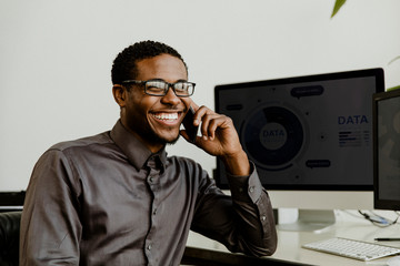 Business person calling on the phone