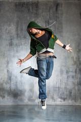 young modern hip hop male dancer