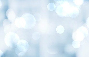 Wall Mural - Blue abstract bokeh blur background,holiday wallpaper