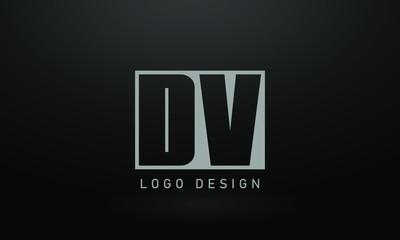 Initial based clean and minimal Logo. DV VD D V letter creative fonts monogram icon symbol. Universal elegant luxury alphabet vector design