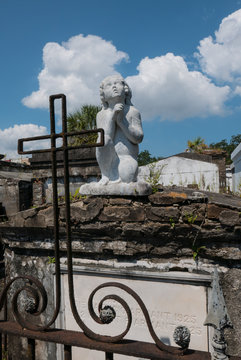St. Louis Cemetery #1 Mausoleum Angel