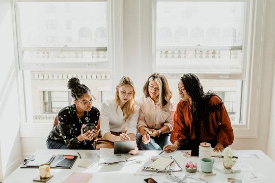 Women startup business meeting