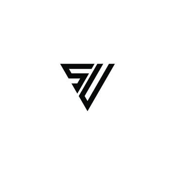 su letter vector logo abstract