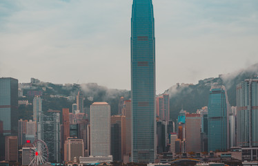 Wall Mural - Hong Kong Cityscape after rain; Hong Kong Landscape