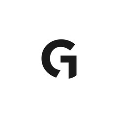 "vector logo with the shape of the letter ""G"" abstract, modern, unique, and clean, brand, company"