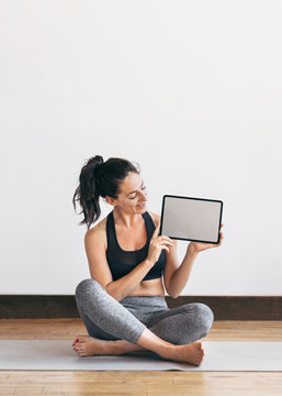 Video guided yoga session