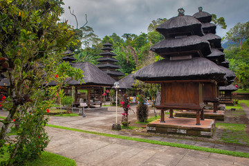 Wooden balinese Temples at Bratan, Bali, Indonesia