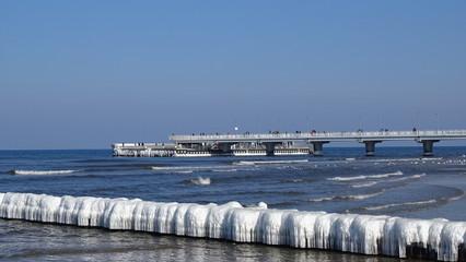 Zima na plaży - Kołobrzeg