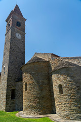 Wall Mural - Medieval church of Pian di Sco, Tuscany, exterior
