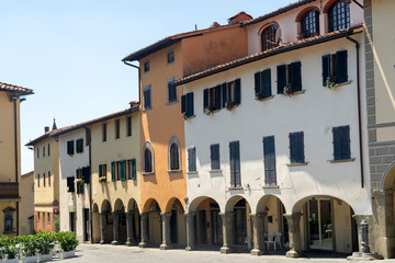 Wall Mural - Main square of Reggello, Florence