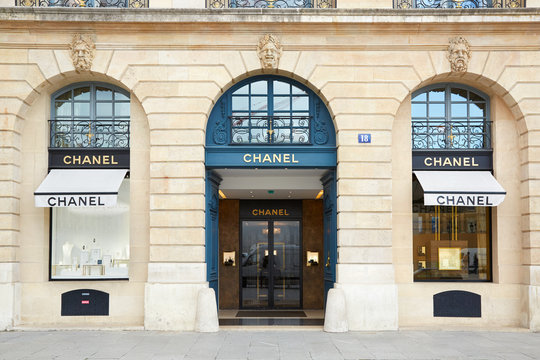 Chanel shop in place Vendome in Paris on September 7, 2017 in Paris, France