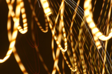 Obraz Złota smuga światła - fototapety do salonu